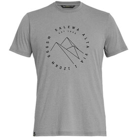 SALEWA Alta Via Dri-Release Camiseta Manga Corta Hombre, heather grey